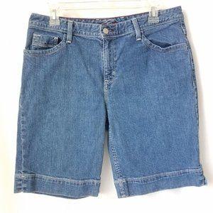 Eddie Bauer Womens Jean Shorts Cotton Spandex 10